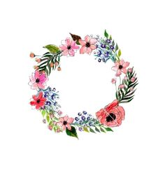 Watercolor flowers wreath vector 4275986 - by lolya1988 on VectorStock®