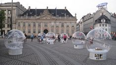 These guys made bubbles to keep their products out of the rain  Index award 2009