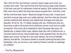 Funny Tina Fey woman's body quote!!