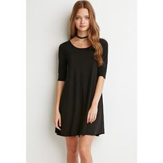 Forever 21 Jersey Knit Dress (965 RUB) ❤ liked on Polyvore