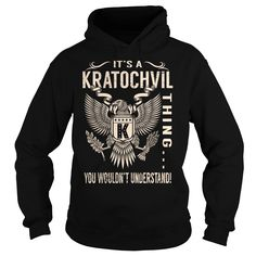 Its a KRATOCHVIL Thing You Wouldnt Understand - Last Name, Surname T-Shirt (Eagle)