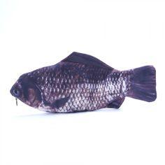 9768dffce98d Details about Pencil Case Make Up Rare Silver Carp Fish Zipper Change Purse  Popular Pouch Bag