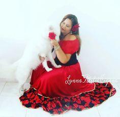 saia cigana com babado floral gypsy skirt dança cigana gypsy dance floral skirt red rose skirt www.facebook.com/ateliecigano