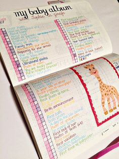 GREAT IDEA! Tracking baby book tasks