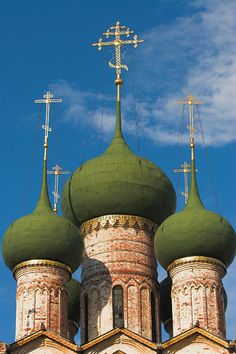 Beautiful cathedral domes. Taj Mahal, Cathedral, Russia, United Russia, Cathedrals