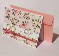 Hochzeitskarte mit Ringen von POMMPLA auf DaWanda.com