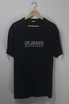 Vintage 90s CK Calvin Klein Jeans Chest Spell Out by BubaGumpBudu