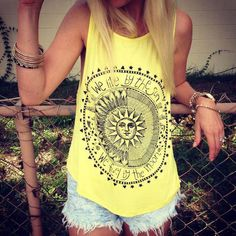 Sleeveless Summer T-shirt,Beautyvan Comfortable Design Sexy Women Sun Printed Blouse Sleeveless Vest Blouse Casual Tank Tops (XL, Grey): ✿✿ Int'l Size: br✿ Size:Sbr Size:Mbr Size:L Size:XLbr Asian brbr♥Shipping: br ❀❀The item w. Women's Summer Fashion, Look Fashion, Womens Fashion, Fashion Vest, Tops Bonitos, Chemises Sexy, Image Mode, Harajuku, Cute Tank Tops