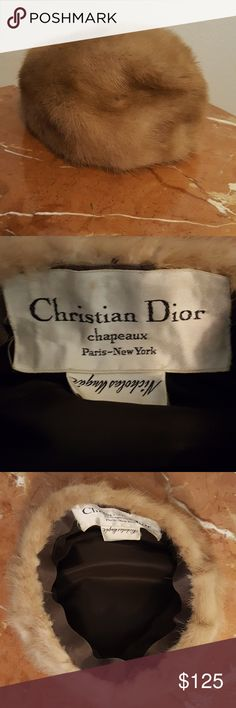 Christian Dior Vintage fur hat Christian Dior Chapeaux Paris- New York, Nicholas Ungar Vintage fur hat. No funky smells, absolutely beautiful!!! Christian Dior Accessories Hats