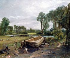 Constable, John: Stavba člunu