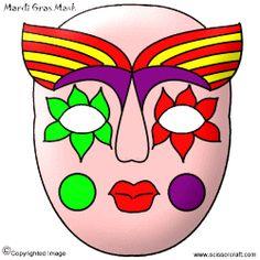 Mardi Gras Mask templates to download