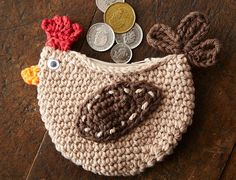 Cluck Cluck Change Purse By Lily/Sugar'n Cream - Free Crochet Pattern - (ravelry)