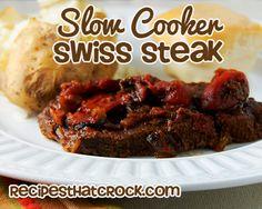 Slow Cooker Swiss Steak #slowcooker #crockpot