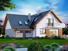 Projekt domu Alion 2M 136,79 m2 - koszt budowy - EXTRADOM Home Fashion, Architecture Design, Mansions, House Styles, Home Decor, Houses, Pintura, Architecture Layout, Decoration Home