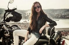 bike, regal raptor motorcycle , street style istanbul, rocker outfit, denim on denim outfit , russian fashion blogger