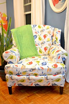 Tips for a (mostly) No Sew Reupholstered Chair