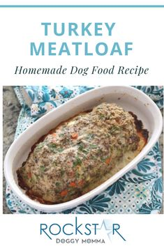 Doggy Good Meatloaf - A healthy version of that can be enjoyed by humans and dogs. Dog Meatloaf Recipe, Homemade Meatloaf, Healthy Meatloaf, Best Meatloaf, Turkey Meatloaf, Meatloaf Recipes, Homemade Dog, Turkey Recipes, Asian Recipes
