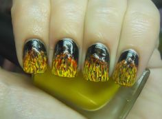 great flames by Holy Manicures