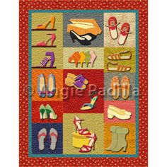 Shoe quilt-must keep up month to month or buy membership for past blocks.