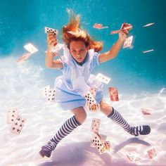 Underwater photographer Elena Kalis, in a great Alice in Wonderland shoot. Yes, she is in the ocean, not inside a Rabbit hole. - Chicquero's blog