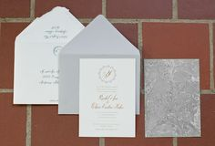 Wedding Invitation by Poppy Pedals featuring Belluccia cursive font