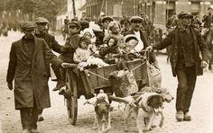 vluchtelingen op weg naar Gent 19 aug 14
