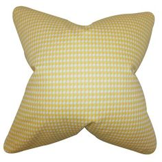 """The Pillow Collection Lviv Cotton Throw Pillow Color: Yellow, Size: 24"""" x 24"""""""
