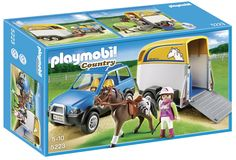 Evie or Ada - Amazon.com: PLAYMOBIL SUV with Horse Trailer: Toys & Games