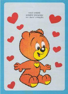 Nick e Fred #papeldecarta #vintageillustration bear
