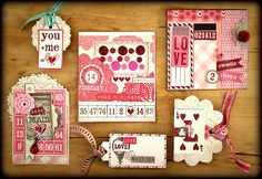 Gorgeous homemade valentine's day cards and tags by Sandy's Space