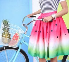 We're head over heels for this darling watermelon skirt.
