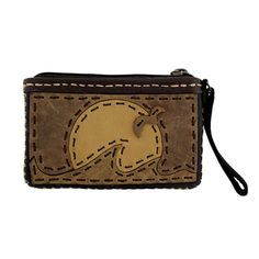 a2412431676 Purple Leopard Boutique - Small Leather Wristlet or Coin Purse with Sunset  Design , $28.00 (
