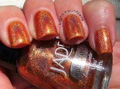 Jade Uau #nails #nailpolish #Jade #holographic #holo #orange