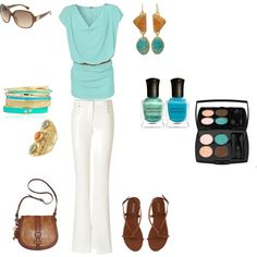 Teal baby, created by zahraghit on Polyvore