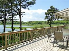 Breathtaking views from the deck of this Mashpee vacation rental on Cape Cod.