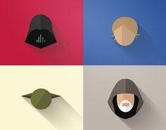"""Minimalistische """"Star Wars""""-Grafiken von Filipe de Carvalho  Nicht nur dieser Tage, in denen der Film """"Rogue One: A Star Wars Story"""" in den Kinos startet, ist das Thema """"Star Wars"""" in aller Munde. Auch wir hie..."""