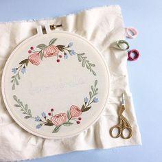 Sábado cheio de bordado por aqui ❤️ {saturday full of embroidery ❤️} #clubedobordado
