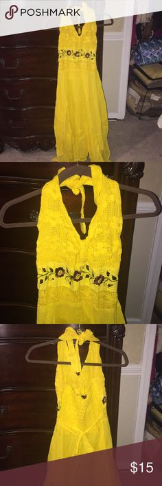 Yellow dress from Mexico Brand new Yellow dress from Mexico Dresses