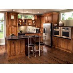 Kraftmaid rustic birch (kitchen cabinets) | The Lake House ...