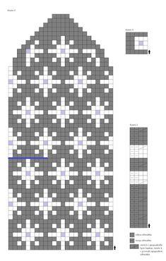 Virolaissarjaa: tähtilapaset Fair Isle Knitting, Knitting Charts, Christmas Knitting, Mitten Gloves, Knitted Hats, Needlework, Knitwear, Fabrics, Dots
