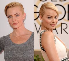 Celebrity Lookalikes:Jaime Pressly and Margot Robbie, they look alike as blondes, but when Margot Robbie dyes her hair Brunetter she looks like a totally different person Celebrity Stars, Celebrity Look, Jaime Pressly Margot Robbie, Famous Duos, Lisa Bonet, Gorgeous Blonde, Hollywood Celebrities, Girl Celebrities, Matthew Mcconaughey