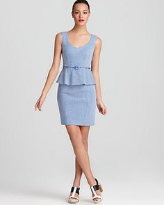 Nanette Lepore Peplum Dress - Desert Knit | Bloomingdale's - Perfect outfit for the office!