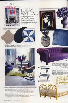 Chevy features in Living etc's November 'Tailoring' story and in Holly Wick's House