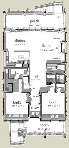 Coastal Home Plans - Calusa Cottage