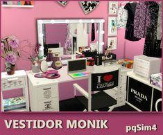 Sims 4 CC's - The Best: Monik dresser room by Sims 4 Cc Kids Clothing, Sims 4 Mods Clothes, Die Sims 4 Packs, Sims 4 Cc Folder, Maxis, Muebles Sims 4 Cc, Pelo Sims, Sims 4 Bedroom, Sims 4 Cc Furniture