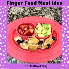 Babies Eating at 10 Months - Lessons By The Lake 10 Months Baby Food, 10 Month Old Baby Food, Baby Food Recipes, Snack Recipes, Food Baby, Baby Meal Plan, Whole Wheat Waffles, Baby Finger Foods, Baby Eating