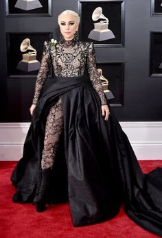 Grammy Awards 2018 Best Dressed on the Red Carpet at the Grammys - Lady Gaga in Armani Prive