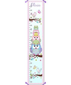 Look at this #zulilyfind! Stacked Owl Personalized Growth Chart #zulilyfinds