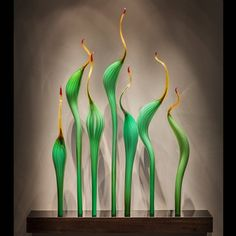 """Pismo Fine Art Glass; Dale Chihuly, """"Amber Jade"""""""