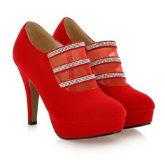 Women's Fashion High Heels :    Fashion boots diamond mesh zipper high heel pumps  - #HighHeels https://youfashion.net/shoes/high-heels/trendy-womens-high-heels-fashion-boots-diamond-mesh-zipper-high-heel-pumps/